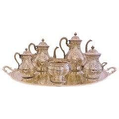 "Antique 19th Century ""Tiffany & Co"" 6 Piece Sterling Silver Tea & Coffee Service"