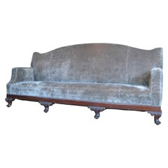 Antique 19th Century Velvet Sofa