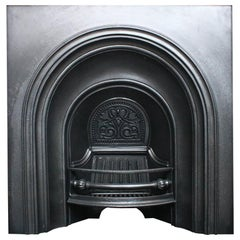 Antique 19th Century Victorian Arched Cast Iron Fireplace Insert