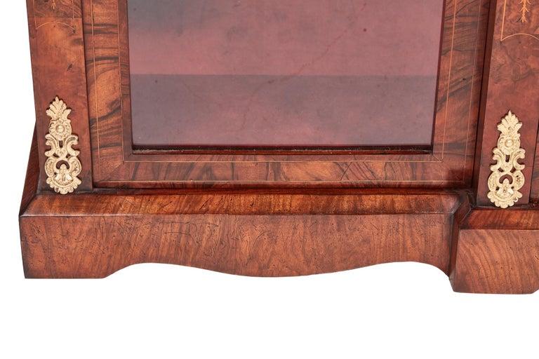 Antique 19th Century Victorian Burr Walnut Inlaid Credenza For Sale 7