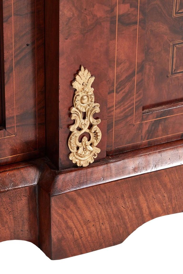 Antique 19th Century Victorian Burr Walnut Inlaid Credenza For Sale 2