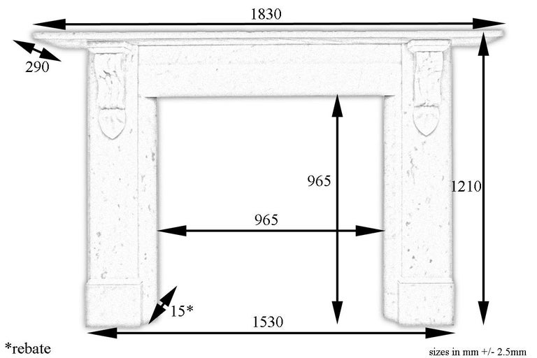 Antique 19th century Victorian Carrara marble fireplace surround with carved corbels supporting the shelf and chamfered inside returns, circa 1880.   For sizes please see images.