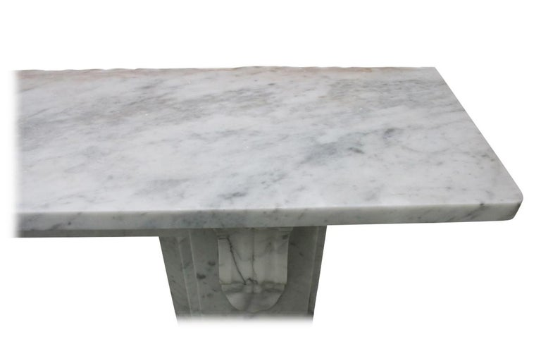 Antique 19th Century Victorian Carrara Marble Fireplace For Sale 4