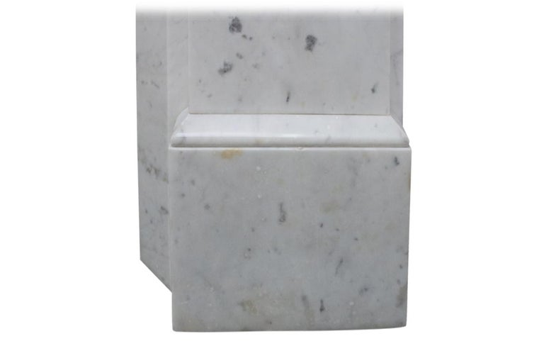 Antique 19th Century Victorian Carrara Marble Fireplace For Sale 6