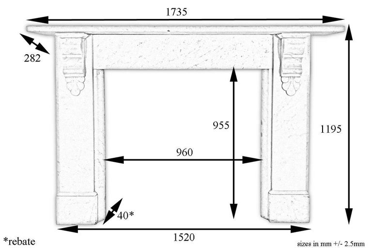 Antique 19th Century Victorian Carrara Marble Fireplace Surround For Sale 4