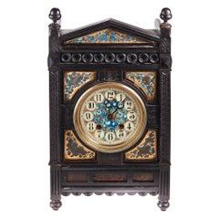 Antique 19th Century Victorian Ebonised Aesthetic Movement Mantel Clock