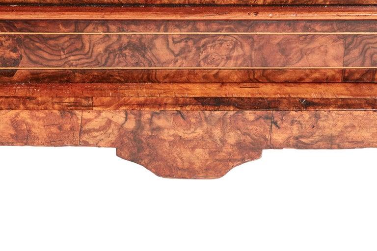 Antique 19th Century Victorian Inlaid Burr Walnut Canterbury For Sale 7