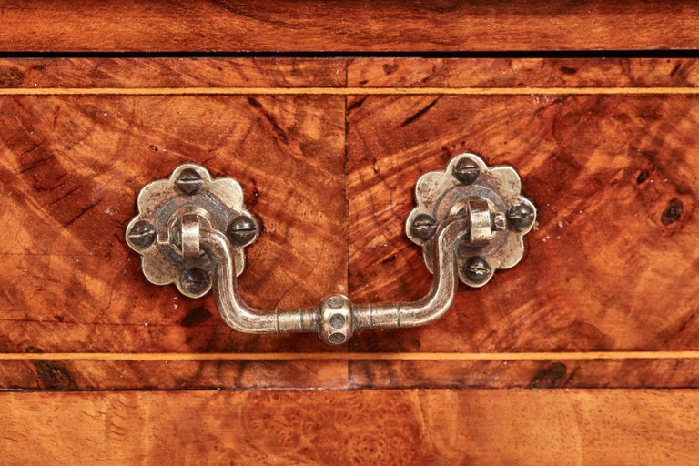 Antique 19th Century Victorian Inlaid Burr Walnut Canterbury For Sale 8