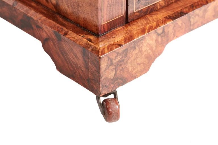Antique 19th Century Victorian Inlaid Burr Walnut Canterbury For Sale 10