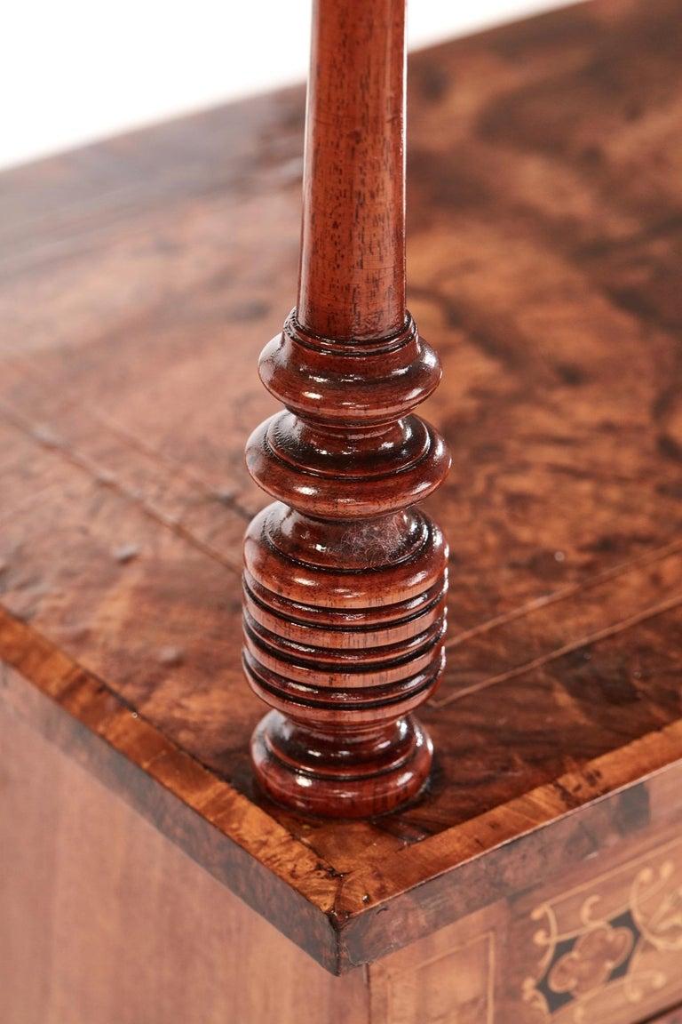 Antique 19th Century Victorian Inlaid Burr Walnut Canterbury For Sale 1
