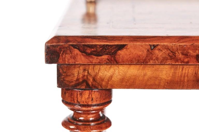 Antique 19th Century Victorian Inlaid Burr Walnut Canterbury For Sale 3