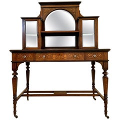 Antique 19th Century Victorian Inlaid Marquetry Writing Desk