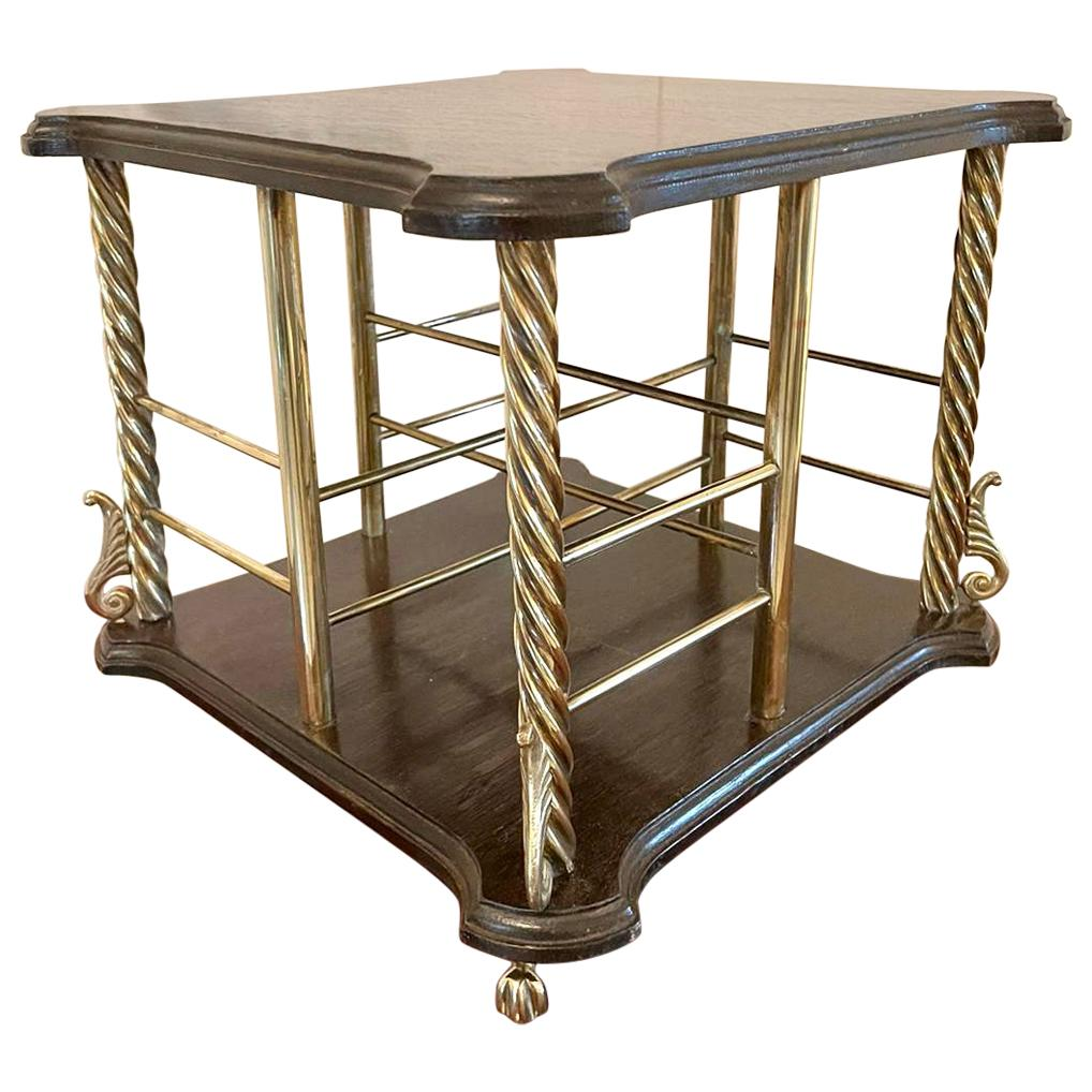 Antique 19th Century Victorian Oak Revolving Bookcase