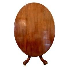Antique 19th Century Victorian Oval Mahogany Centre Table