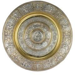 Antique 19th Century Victorian Solid Silver Sideboard Dish, Elkington circa 1874