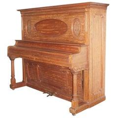 Antique 19th Century Victorian Upright Piano by The Everett Piano Co. Boston