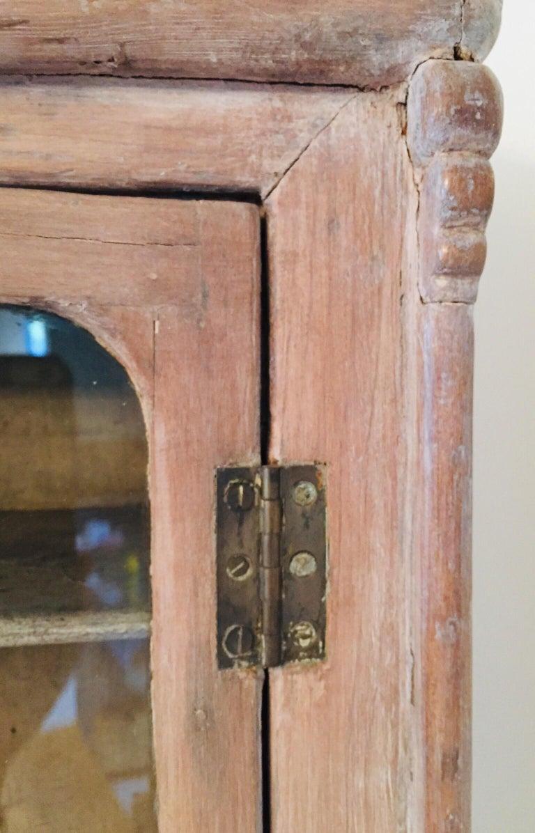 Antique 19th Victorian Curio Cabinet Secretary Desk For Sale 7