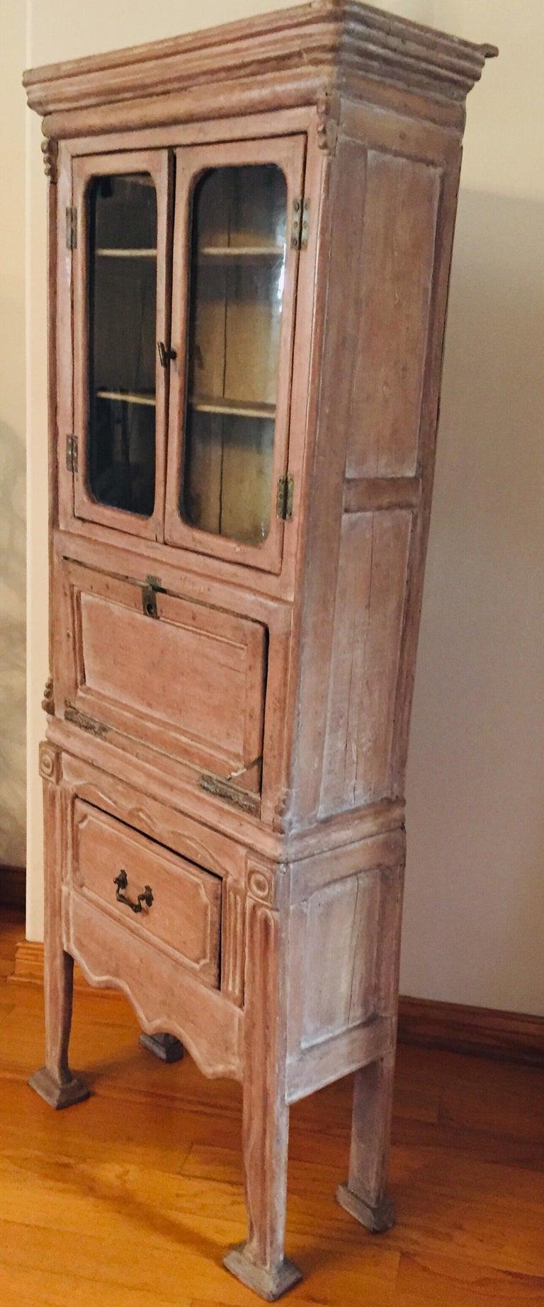 Antique 19th Victorian Curio Cabinet Secretary Desk For Sale 10
