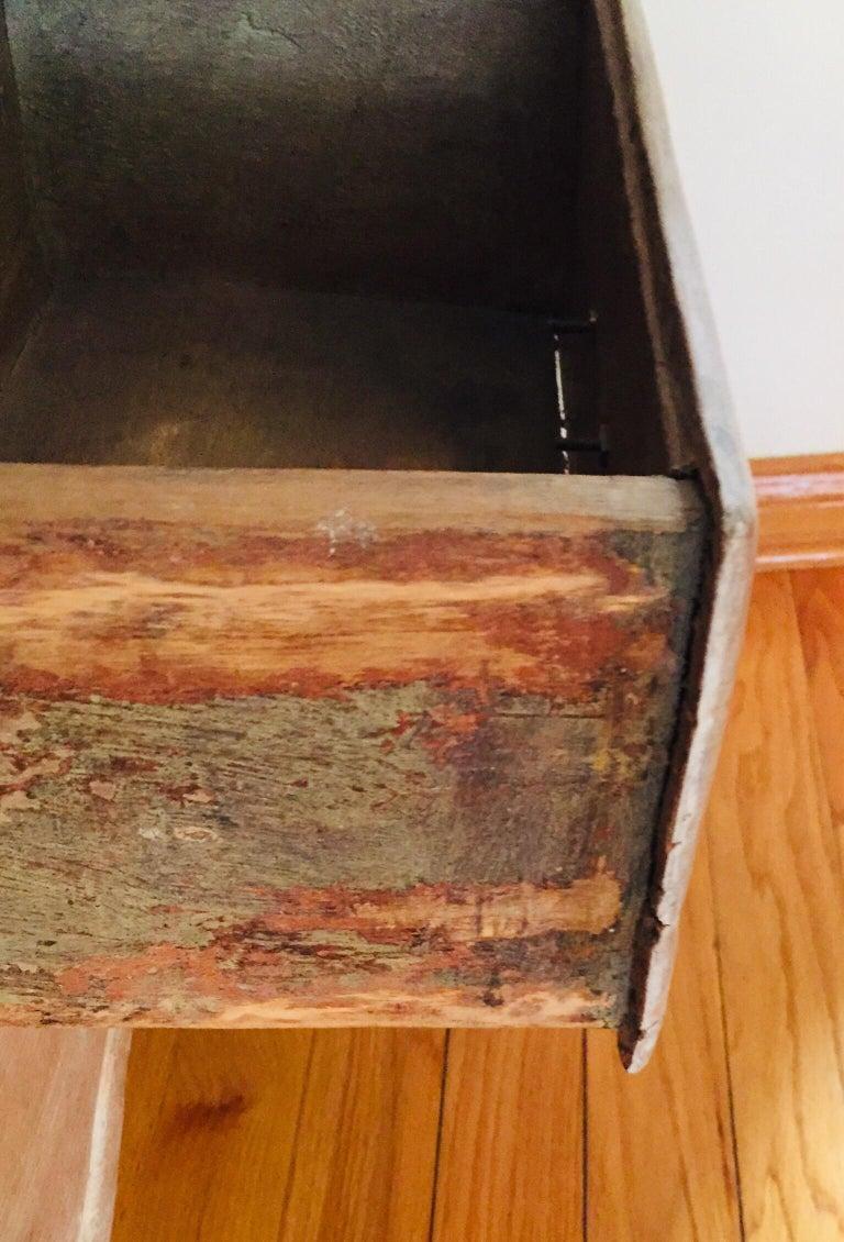 French Antique 19th Victorian Curio Cabinet Secretary Desk For Sale