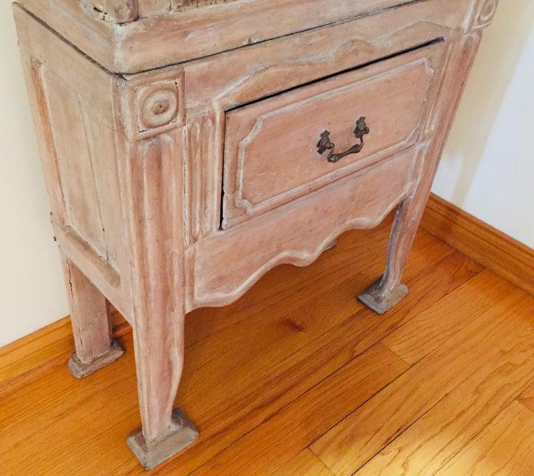 Antique 19th Victorian Curio Cabinet Secretary Desk In Fair Condition For Sale In North Hollywood, CA