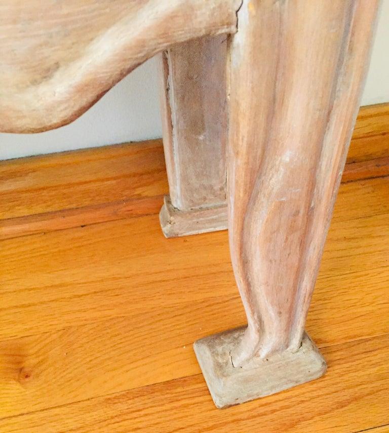 Pine Antique 19th Victorian Curio Cabinet Secretary Desk For Sale