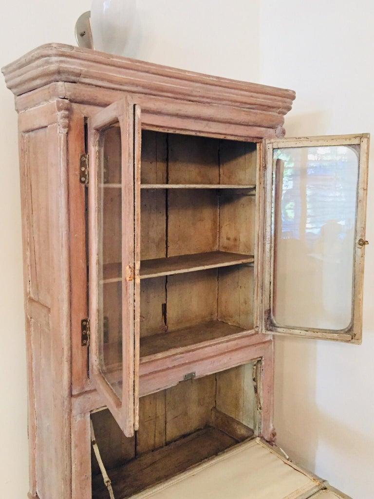Antique 19th Victorian Curio Cabinet Secretary Desk For Sale 1