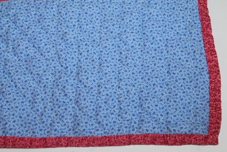American Antique 19th Century Crib Quilt Applique from Berks County Pennsylvania For Sale