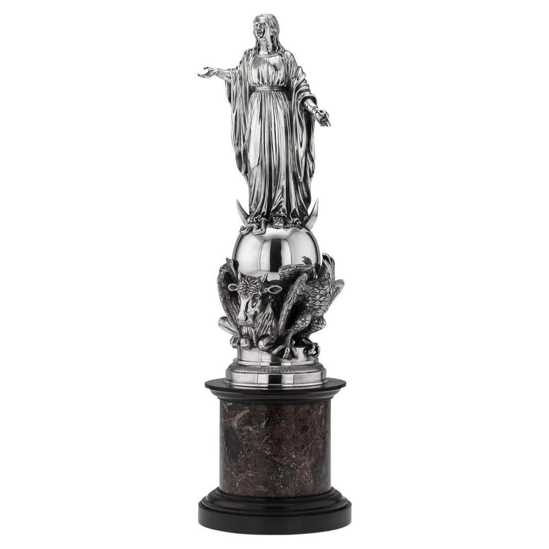 Antique 19thc French Monumental Solid Silver Figural Centrepiece c.1880
