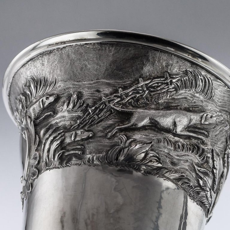 Antique Georgian Solid Silver Fox Stirrup Cup, Reily & Storer, circa 1832 For Sale 4