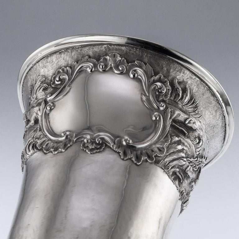 Antique Georgian Solid Silver Fox Stirrup Cup, Reily & Storer, circa 1832 For Sale 5