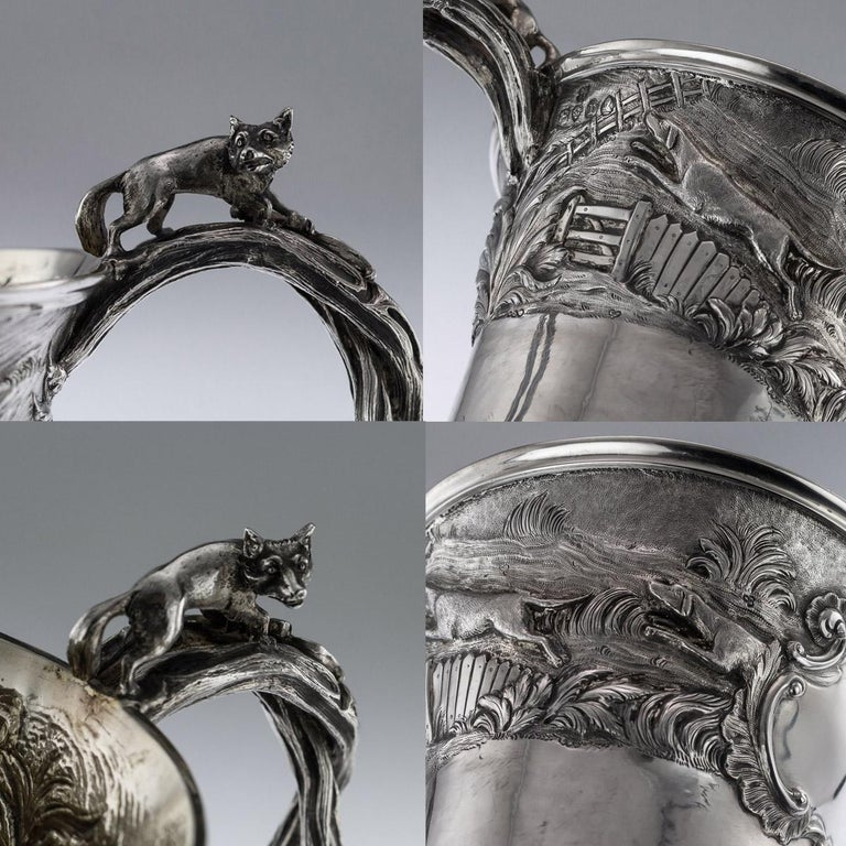 Antique Georgian Solid Silver Fox Stirrup Cup, Reily & Storer, circa 1832 For Sale 2