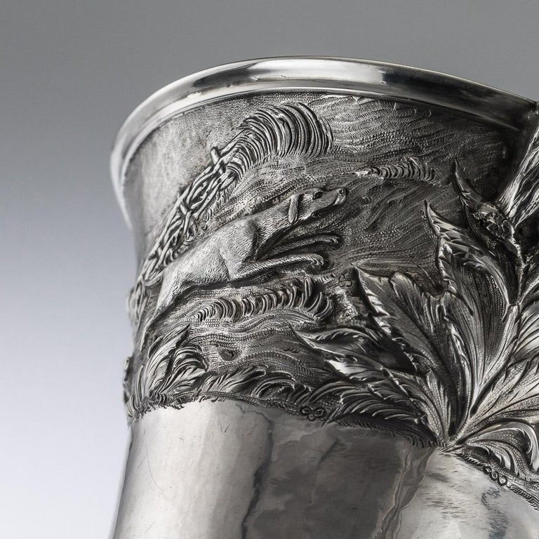 Antique Georgian Solid Silver Fox Stirrup Cup, Reily & Storer, circa 1832 For Sale 3