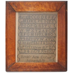 Antique 19th Century Sampler from Philadelphia Dated 1804