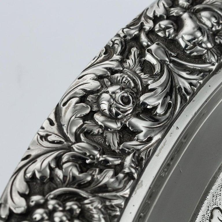19th Century Scottish Solid Silver Salver, George McHattie, Edinburgh For Sale 5