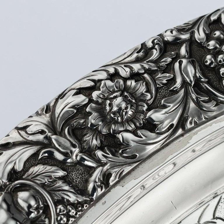 19th Century Scottish Solid Silver Salver, George McHattie, Edinburgh For Sale 6