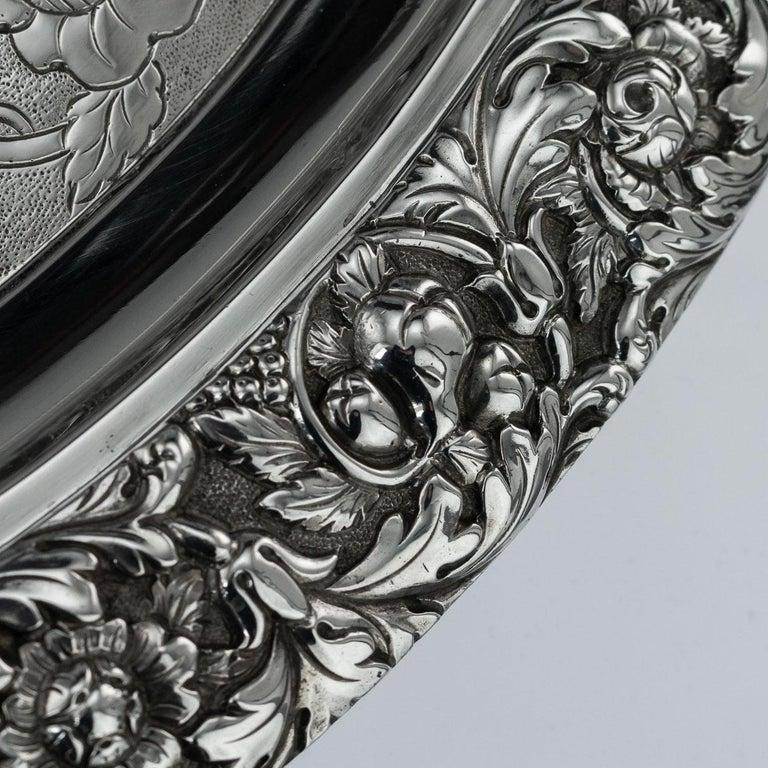 19th Century Scottish Solid Silver Salver, George McHattie, Edinburgh For Sale 7