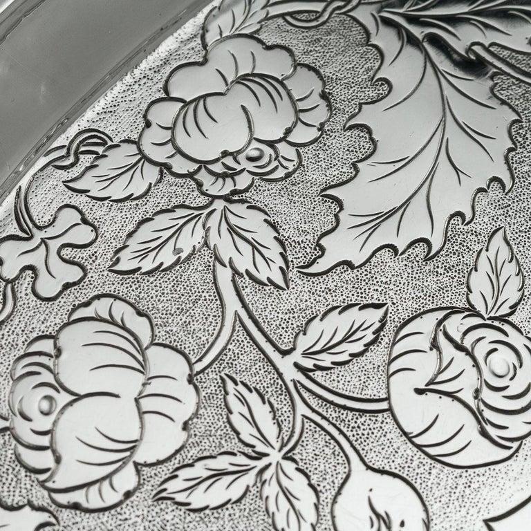 19th Century Scottish Solid Silver Salver, George McHattie, Edinburgh For Sale 3
