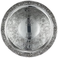 19th Century Scottish Solid Silver Salver, George McHattie, Edinburgh