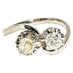Antique 2-Stone Old Cut Diamond Ring