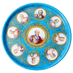 Antique Sèvres Porcelain Charger of Louis XVI, 19th Century