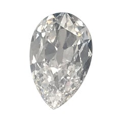 Antique 2.05 Carat Pear Shape GIA D/ SI 1, Buy It Loose or with a Custom Setting