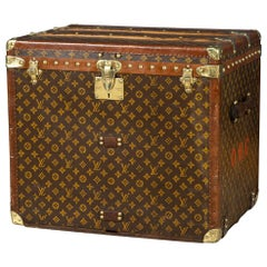 Antique 20th Century Louis Vuitton Hat Trunk in Monogram Canvas Paris circa 1920