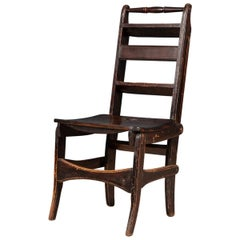 Antique 20th Century Metamorphic Oak Library Chair, England, C.1900