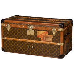 Antique 20th Century Rare Louis Vuitton Shoe Trunk, France, circa 1910