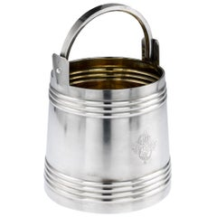 Antique Russian Solid Silver Vodka Ice Pail Bucket, Moscow, circa 1900