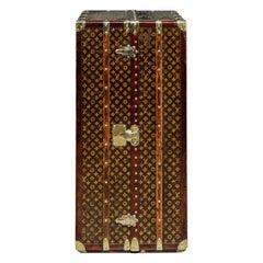 Antique 20th Century Unusual Louis Vuitton Wardrobe Trunk, circa 1920