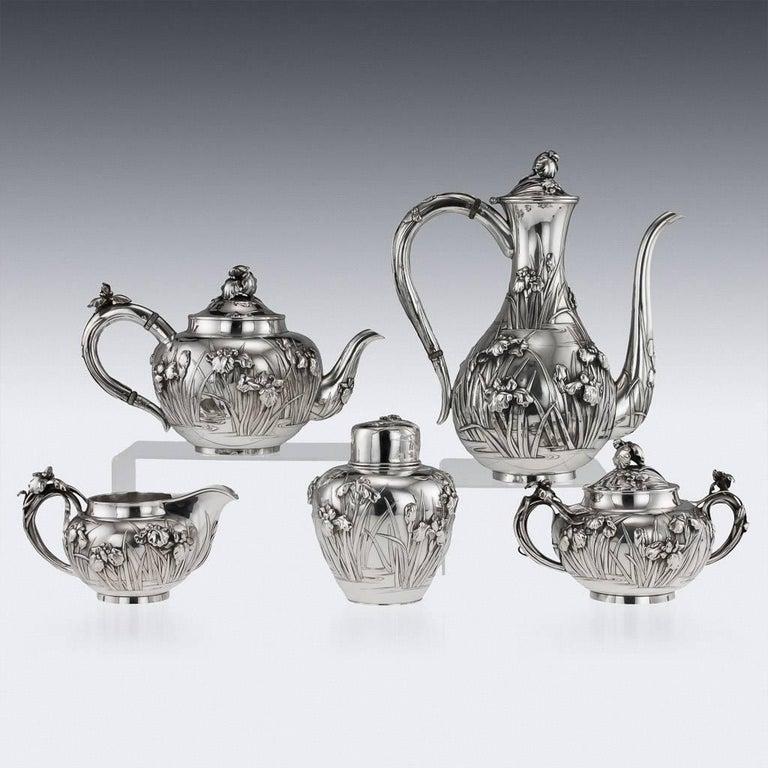 20th Century Antique Japanese Solid Silver Tea and Coffee Service, Arthur & Bond, circa 1900