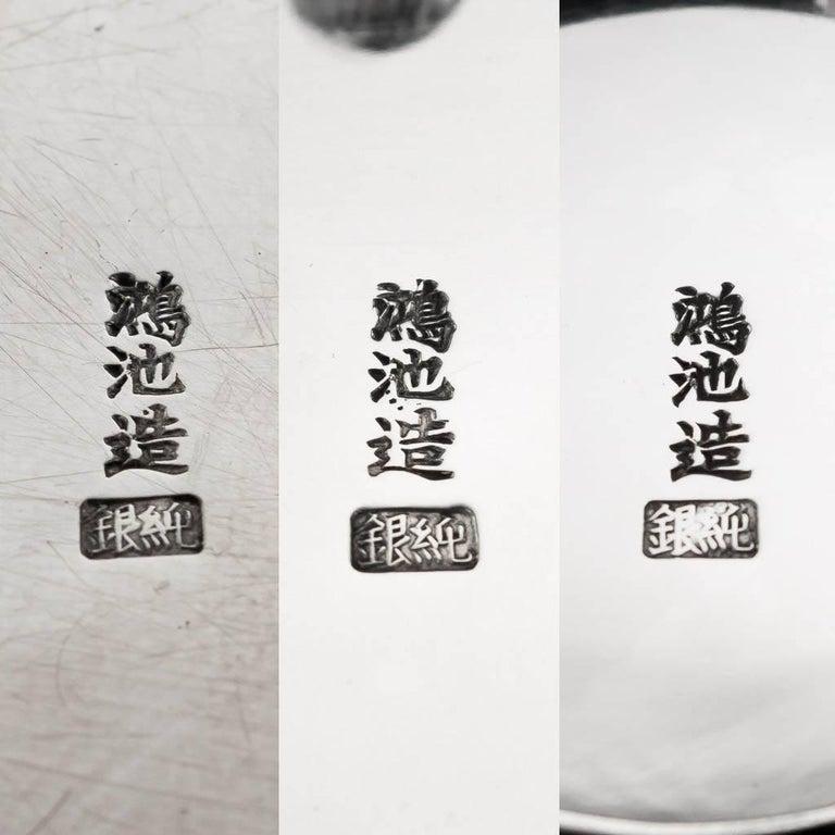 Antique 20th Century Japanese Solid Silver Tea Set, Yokohama, Konoike circa 1900 7