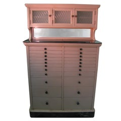 Antique 22-Drawer Dental Cabinet All Original