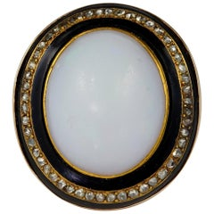 Antique 22.0 Carat Natural Opal Rose Cut Diamond Huge Ring